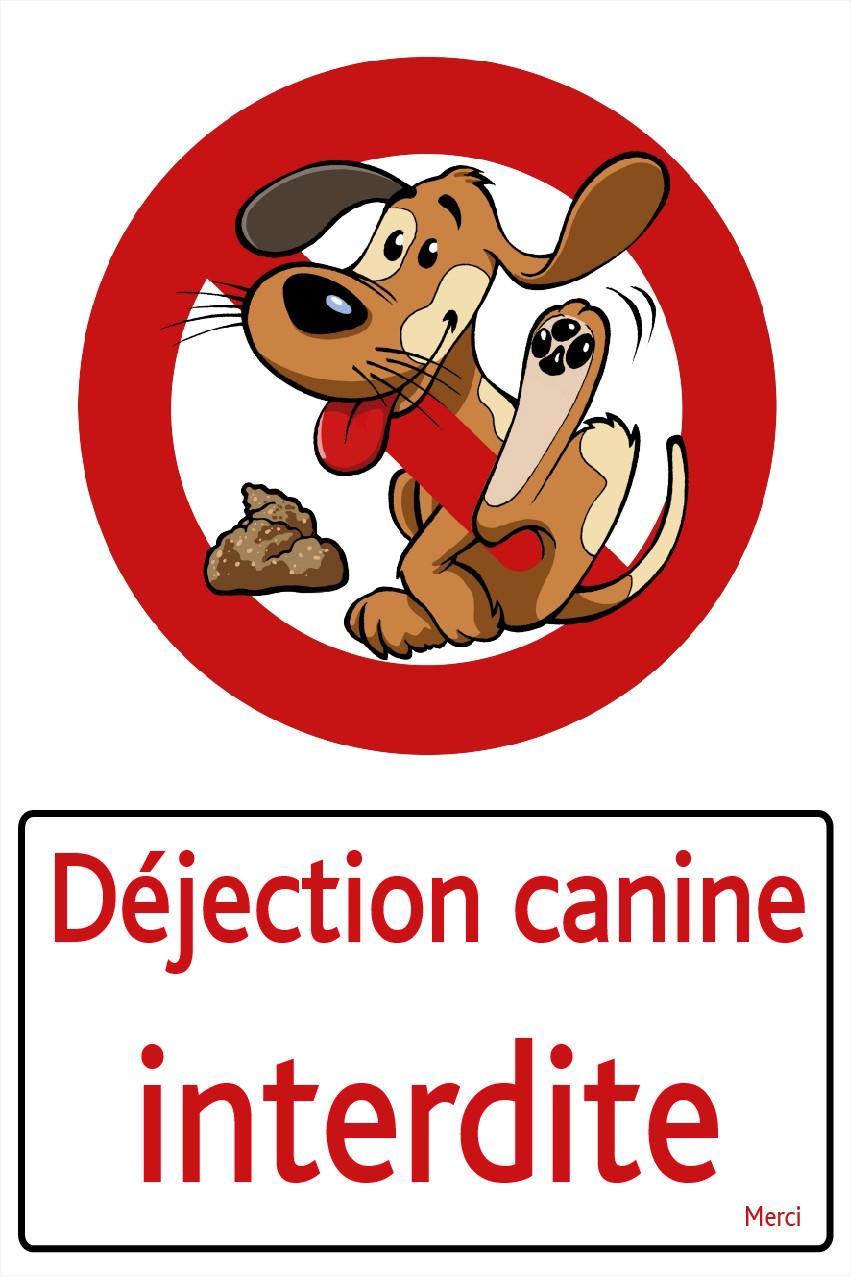 Déjection Canine Interdite